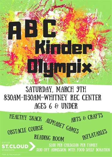 ABC KinderOlympix Event at Whitney Recreation Center March 9th