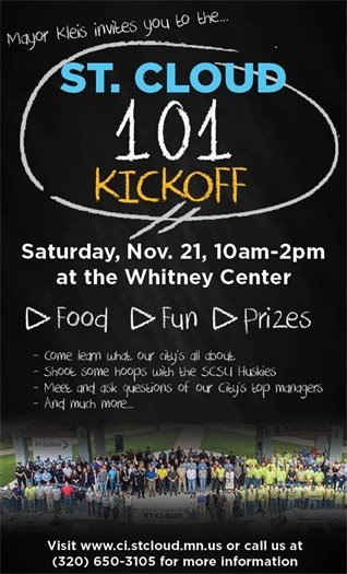 St. Cloud 101 Kick-Off this Saturday!