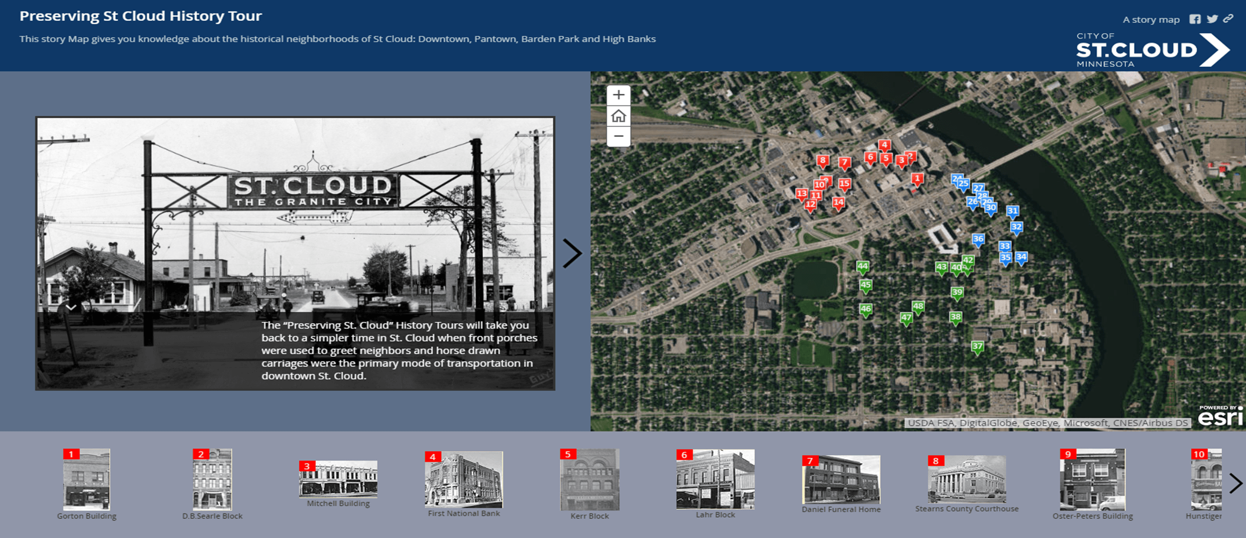 Preserving St. Cloud History Tour Storymap