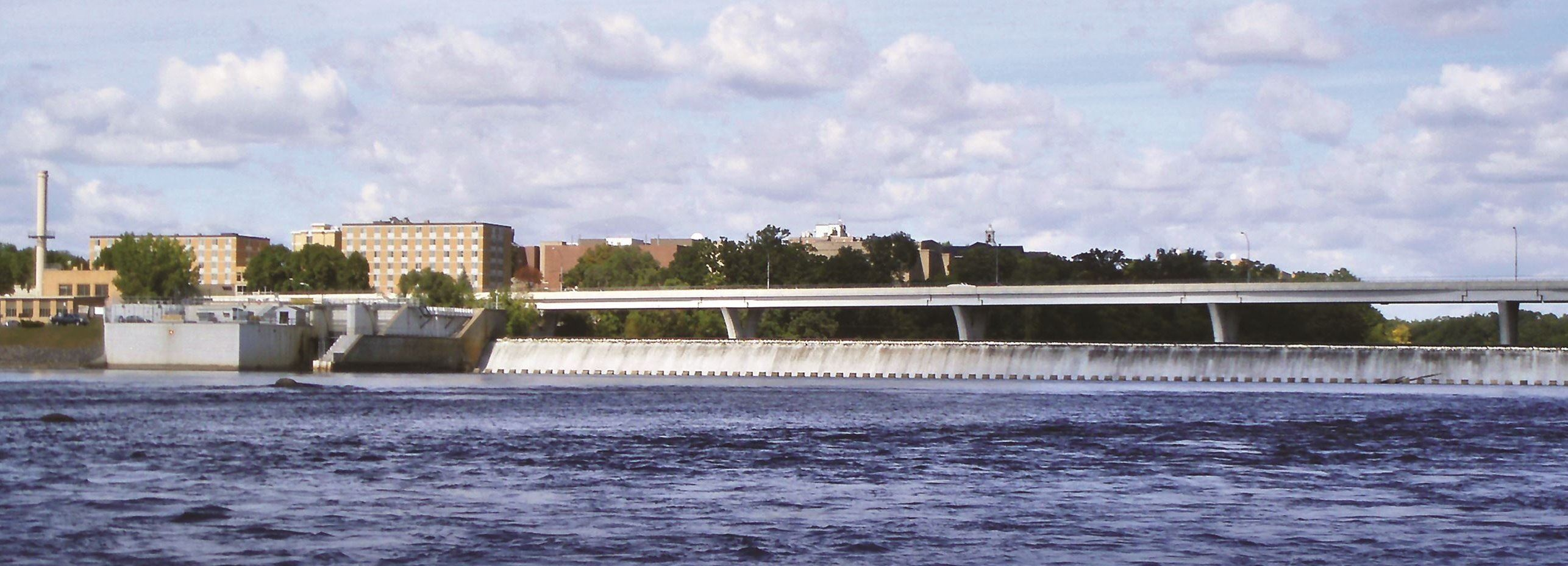 St Cloud Hydroelectric Dam and Mississippi River