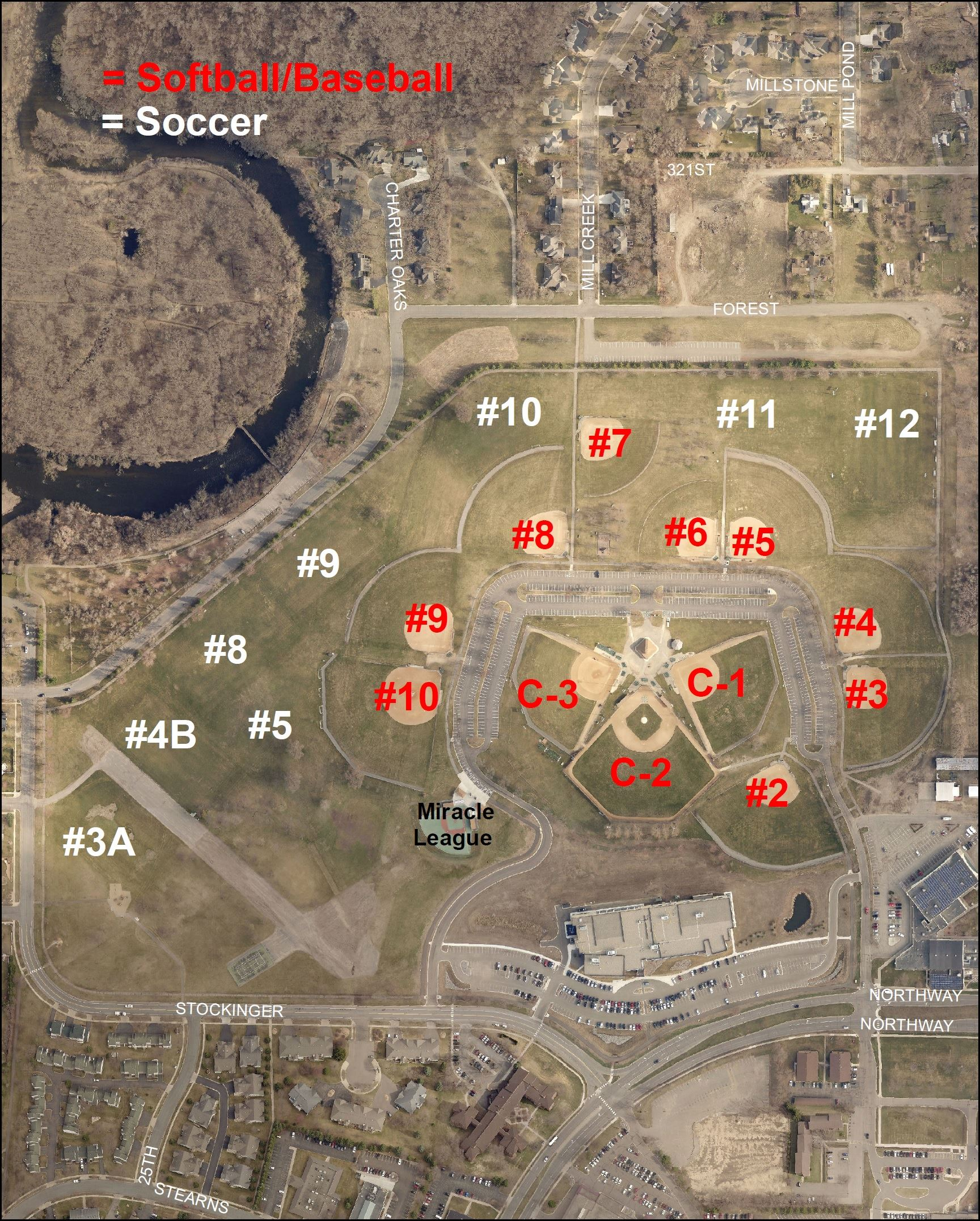 Whitney Athletic Field Map