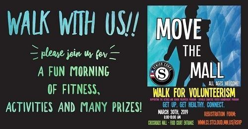 Move the Mall Walk for Volunteerism 2019