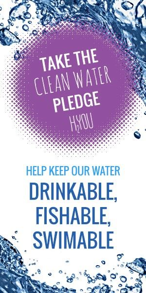 Advertisement for Taking the Clean Water Pledge to maintain water quality