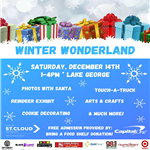 Winter Wonderland 2019 at Lake George December 14th from 1-4pm