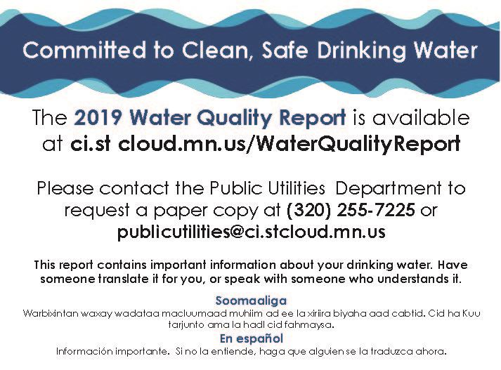 2019 Water Quality Report Magazine (half page)