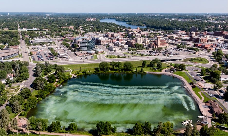 Aerial Photo of Lake George and St. Cloud Downtown Area